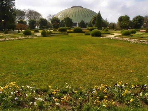 Los jardines del Palacio de Cristal Oporto