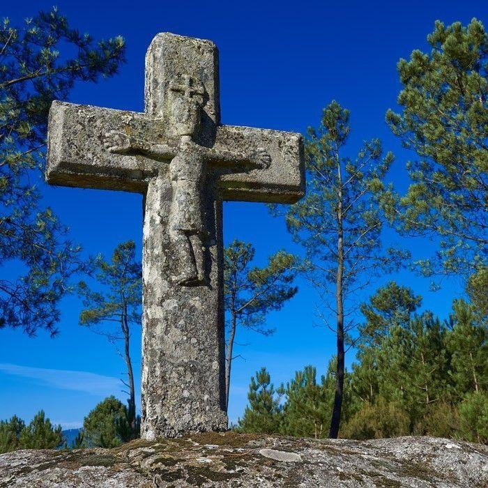 Cruceiro romanico Virgen del Camino