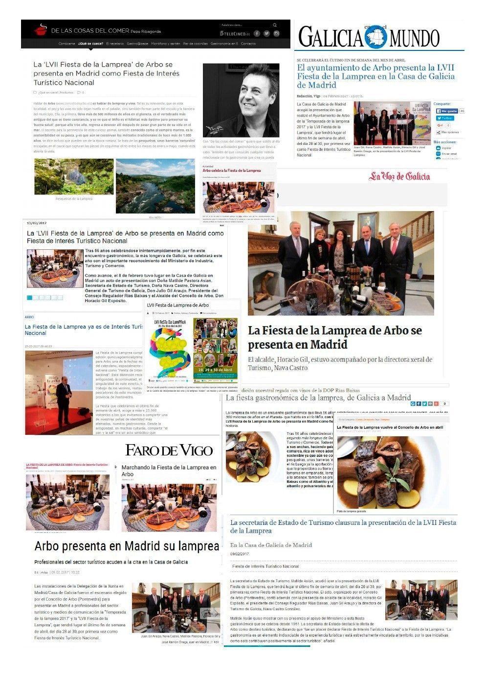 Prensa Fiesta de La Lamprea 2017