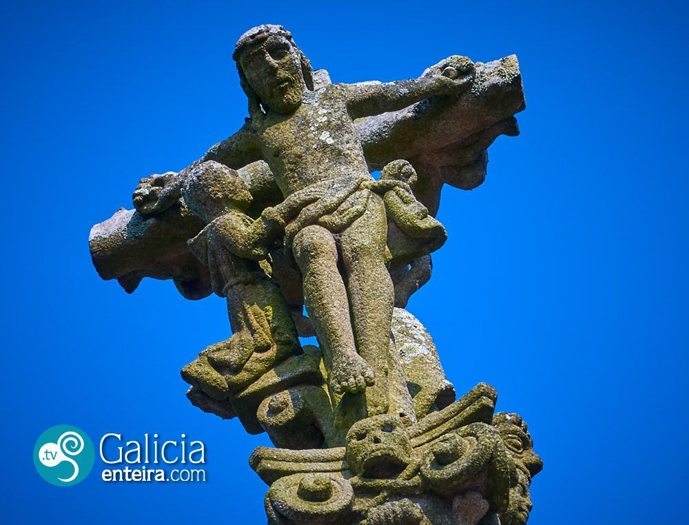 Cruceiro de San Pedro de Lantaño o Cruceiro do Culebrón, Portas