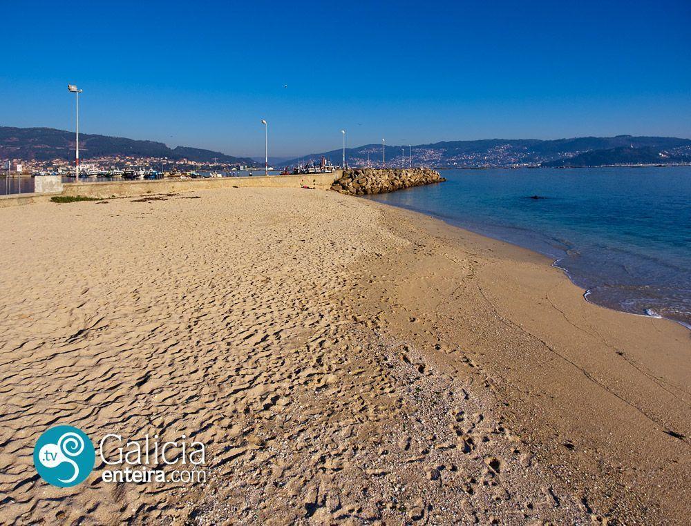 Playa de O Con, Moaña
