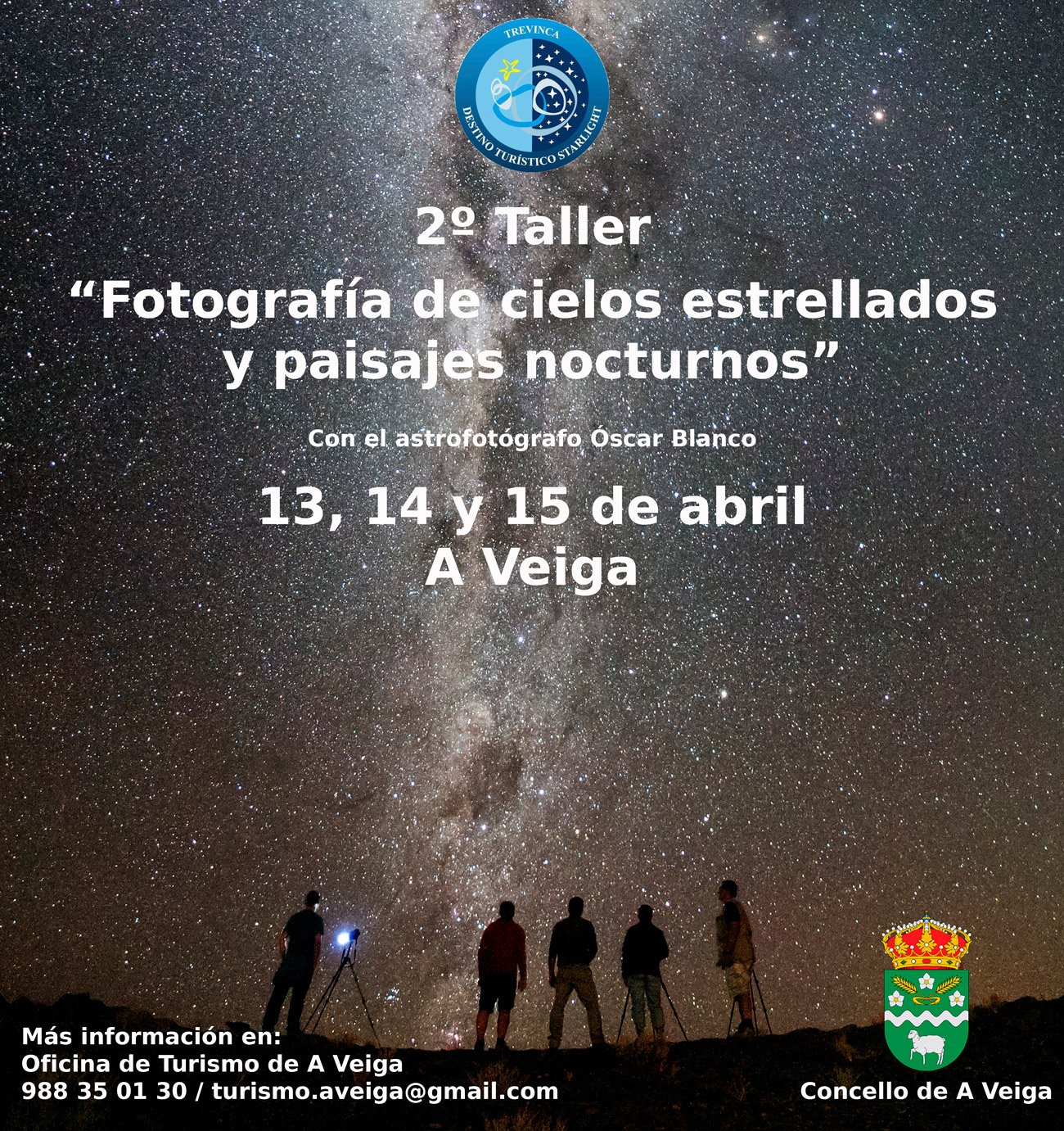 taller de fotografía de cielos estrellados y paisajes nocturnos. A Veiga