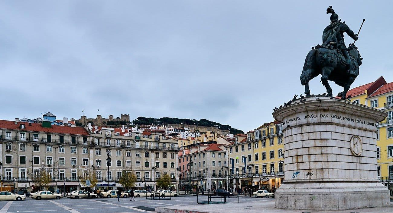Estatua ecuestre de Dom Joao I - Lisboa