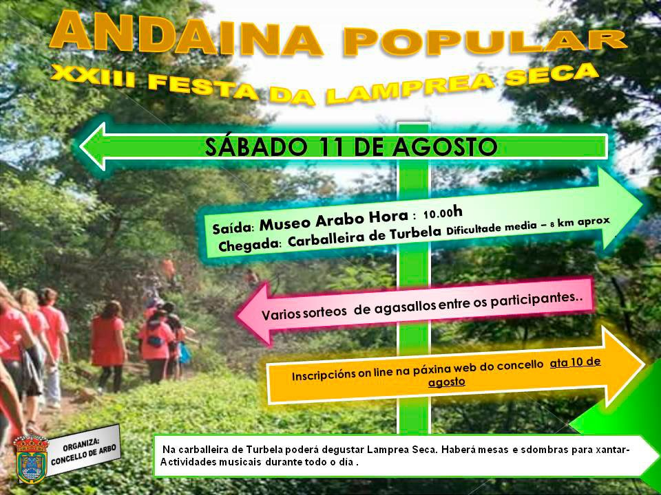 """ANDAINA POPULAR DA FESTA DA LAMPREA SECA"""