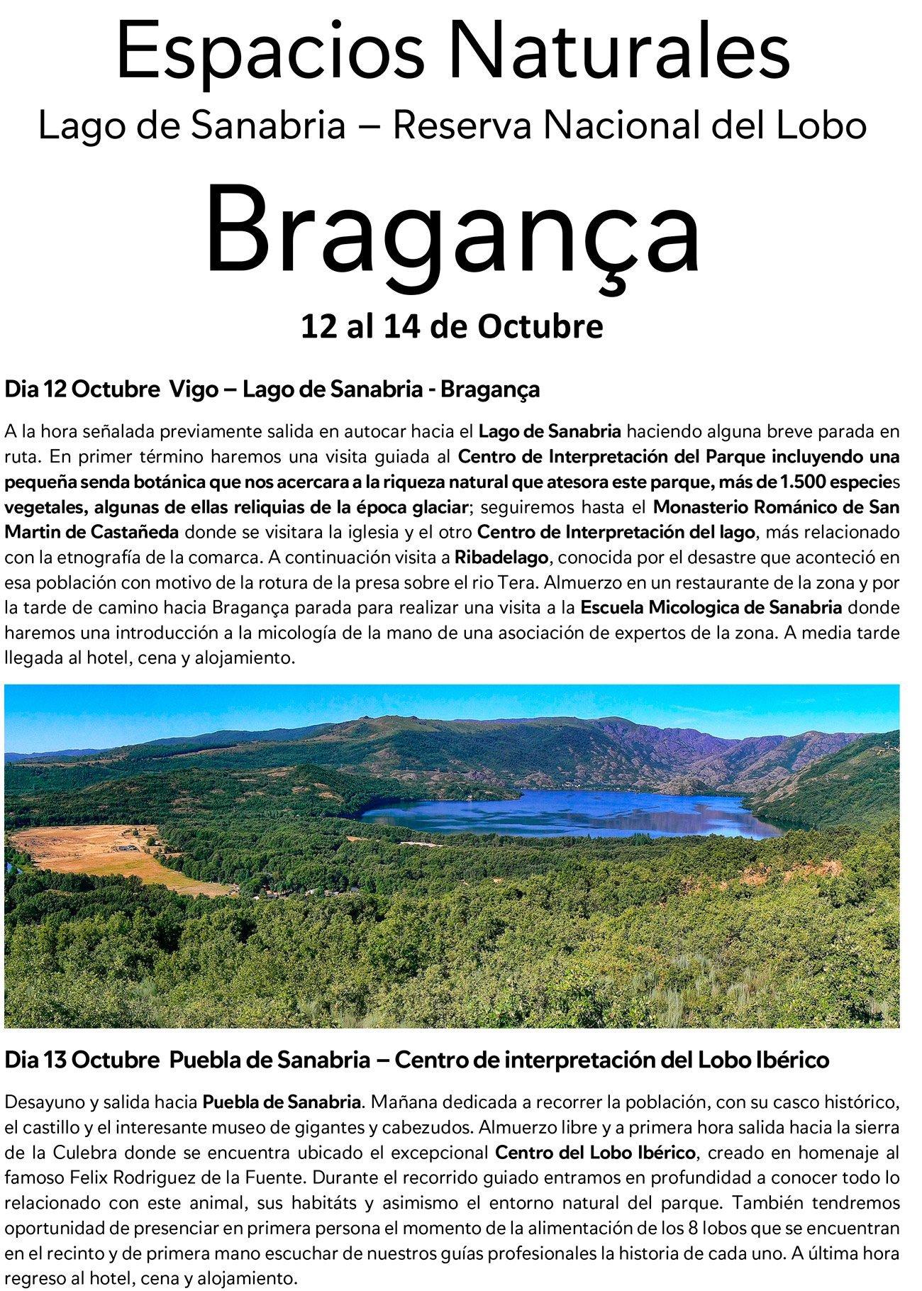 Bragança 12 al 14 de Octubre