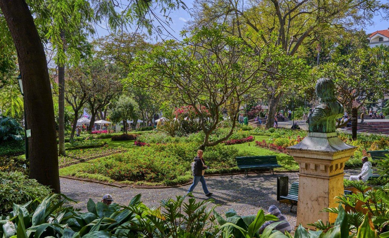 Jardín municipal Funchal Madeira
