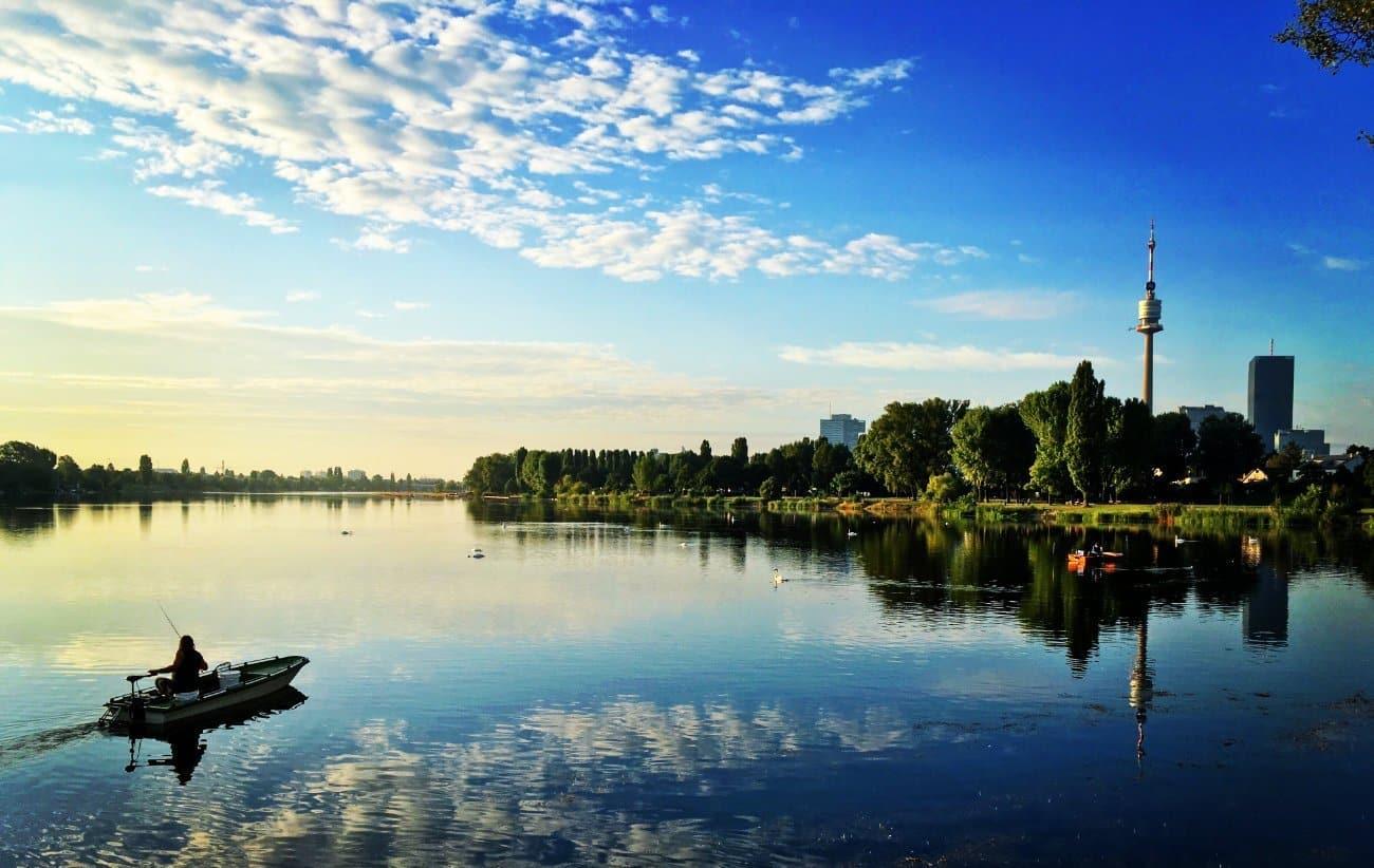 Disfrutar de la orilla del Danubio Viena
