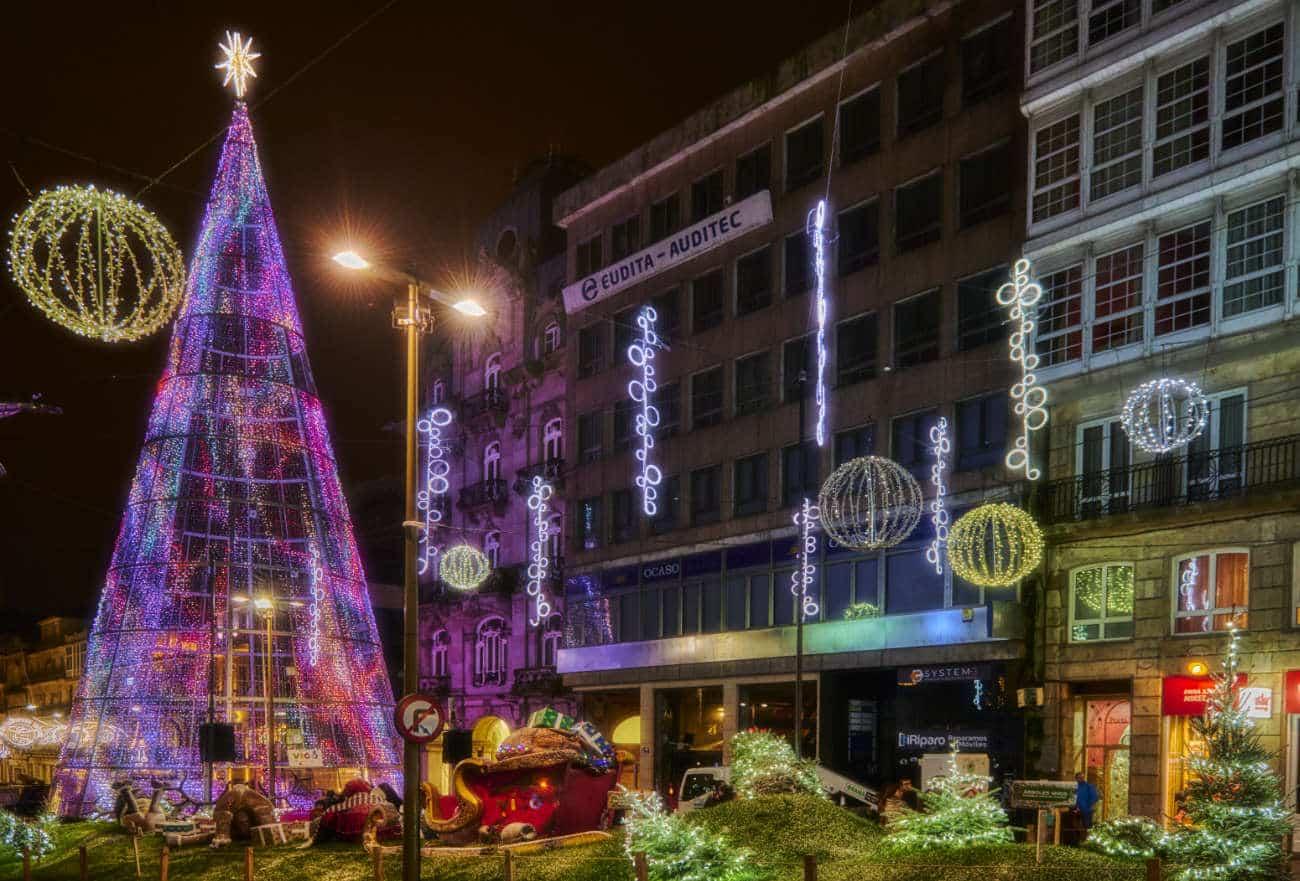 Las luces de Navidad en Vigo