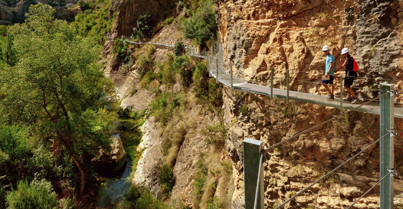 Ruta por las pasarelas del río Vero Alquezar Huesca
